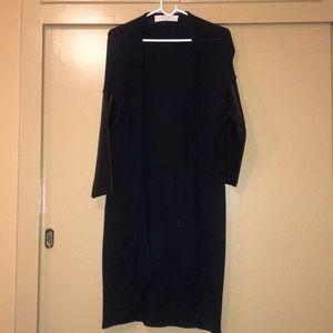 Black jacket/coat w/ faux leather arms